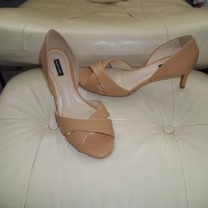 Alex Marie Neutral Fall Open Toe Heels Sz 8